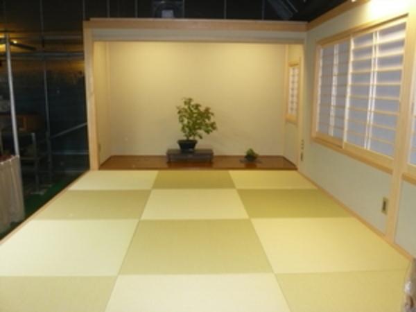 盆栽を飾る床の間 山梨県注文住宅 住建