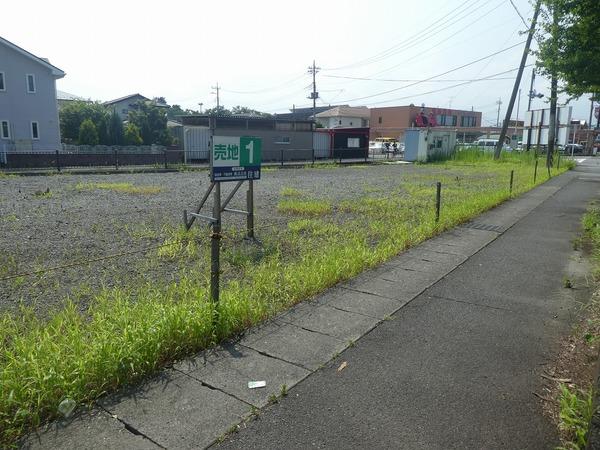 昭和町 売り地 除草剤散布してきました。
